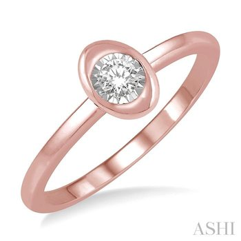 oval shape diamond promise ring