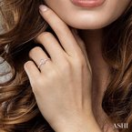 ASHI oval shape diamond promise ring