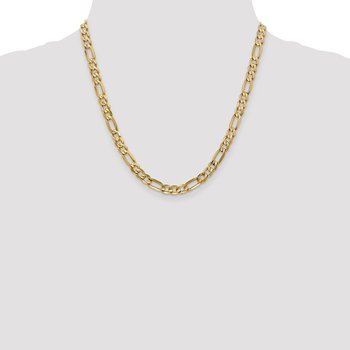 Leslie's 10K Yellow Gold 6.0mm Concave Figaro Chain