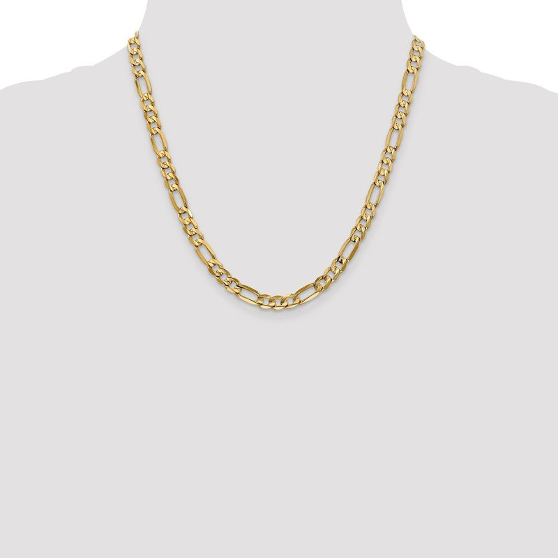 Leslie's Leslie's 10K Yellow Gold 6.0mm Concave Figaro Chain