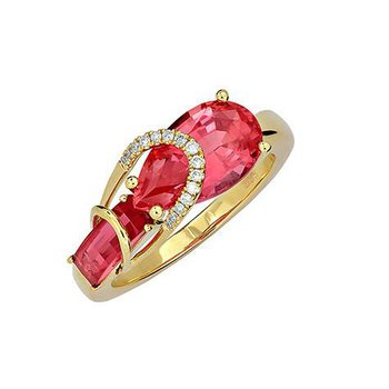 Padparadscha Ring-CR11886YPD
