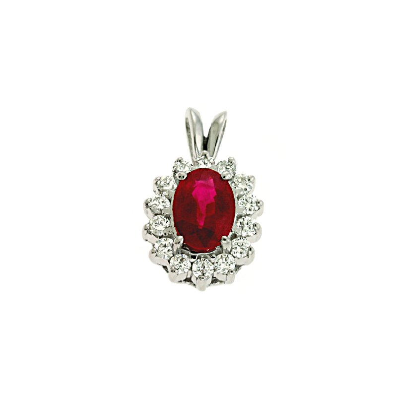 S. Kashi  & Sons Ruby & Diamond Pendant