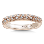 Valina Stackable Wedding Band in 14K Rose Gold (.20 ct. tw.)