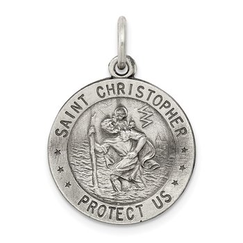 Sterling Silver St.Christopher US Army Medal
