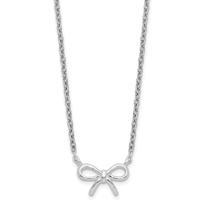 Quality Gold Sterling Silver Bow Necklace