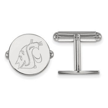 Sterling Silver Washington State University NCAA Cuff Links