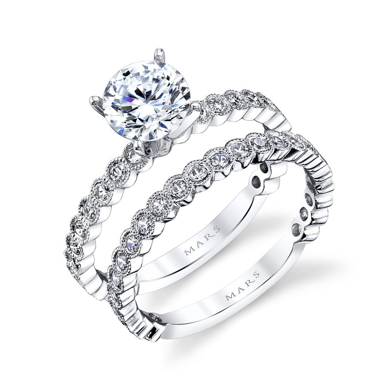 MARS Jewelry MARS 27219 Diamond Engagement Ring, 0.34 Ctw.