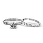 Simon G TR670 WEDDING SET