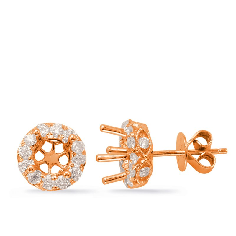 S. Kashi  & Sons Halo Diamond Earring For .50cttw round