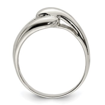Sterling Silver Polished Loop Ring