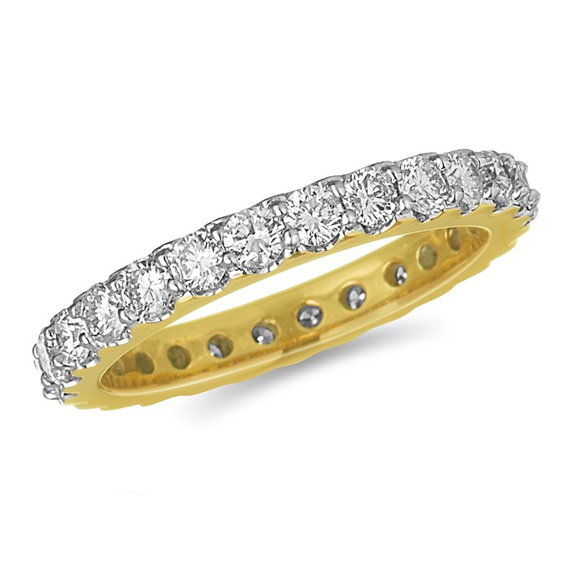 BB Impex 14K YG Diamond Eternity Band in Prong Setting 1.5 Cts