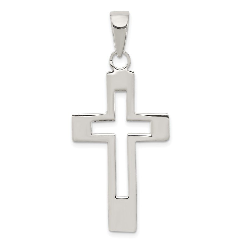 Quality Gold Sterling Silver Cross Pendant