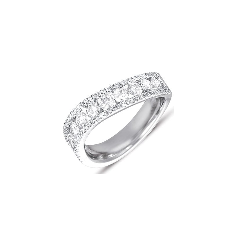 S. Kashi  & Sons White Gold Pave Diamond Ring