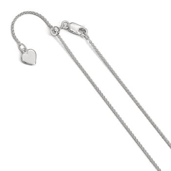 Leslie's Sterling Silver Adjustable 1mm Spiga Chain