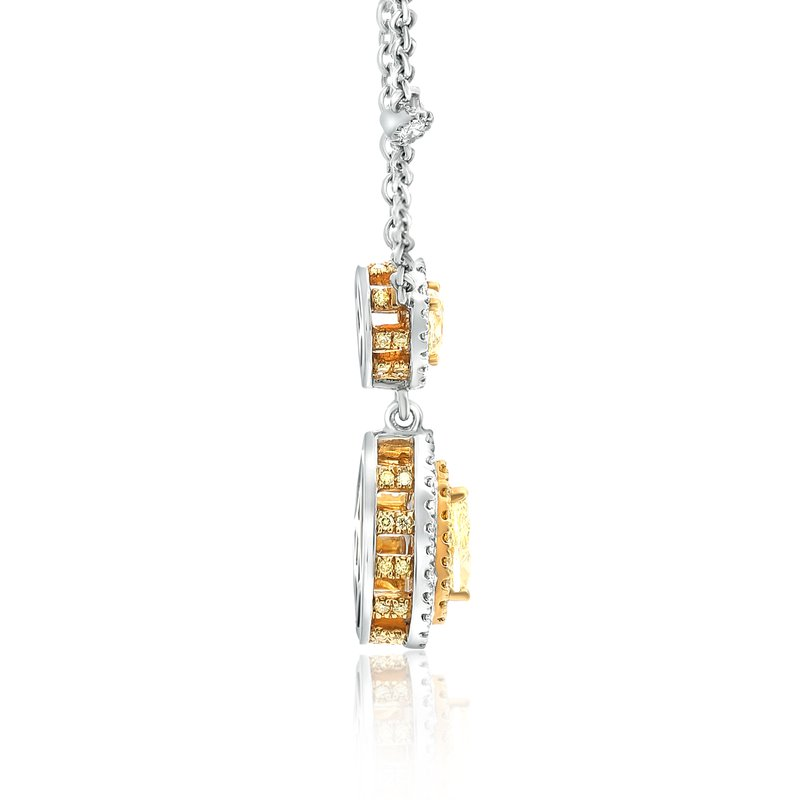 Roman & Jules Double Pear Yellow Diamond Necklace