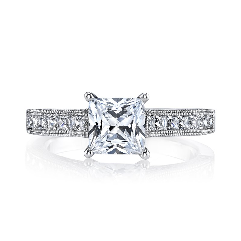 MARS Jewelry 25470 Diamond Engagement Ring 0.18 ct rd 0.51 ct pr