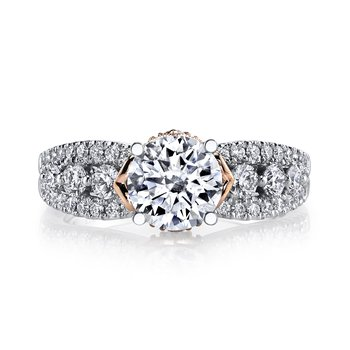 MARS 26061TT Diamond Engagement Ring, 0.70 Ctw.