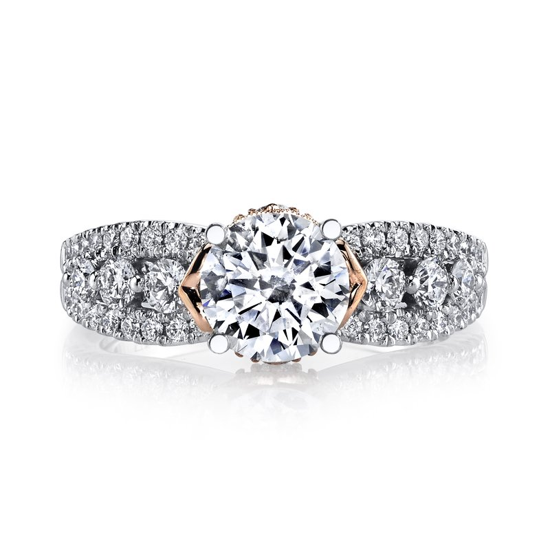 MARS Jewelry MARS 26061TT Diamond Engagement Ring, 0.70 Ctw.