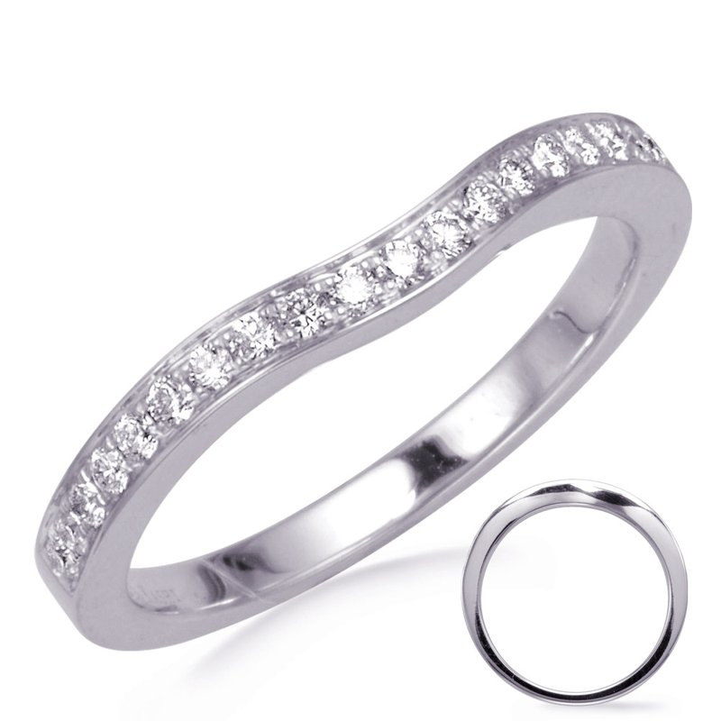 S. Kashi & Sons Bridal White Gold Curved Band