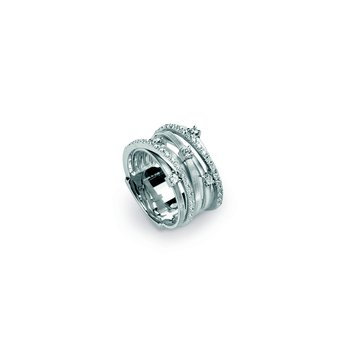 Goa Seven Strand Diamond & Pave Ring In White Gold