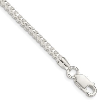 Sterling Silver 3.4mm D/C Square Franco Chain