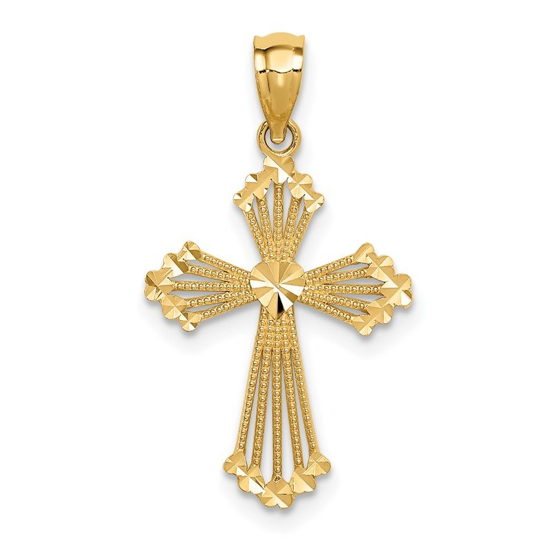 Quality Gold 14k Passion Cross Pendant
