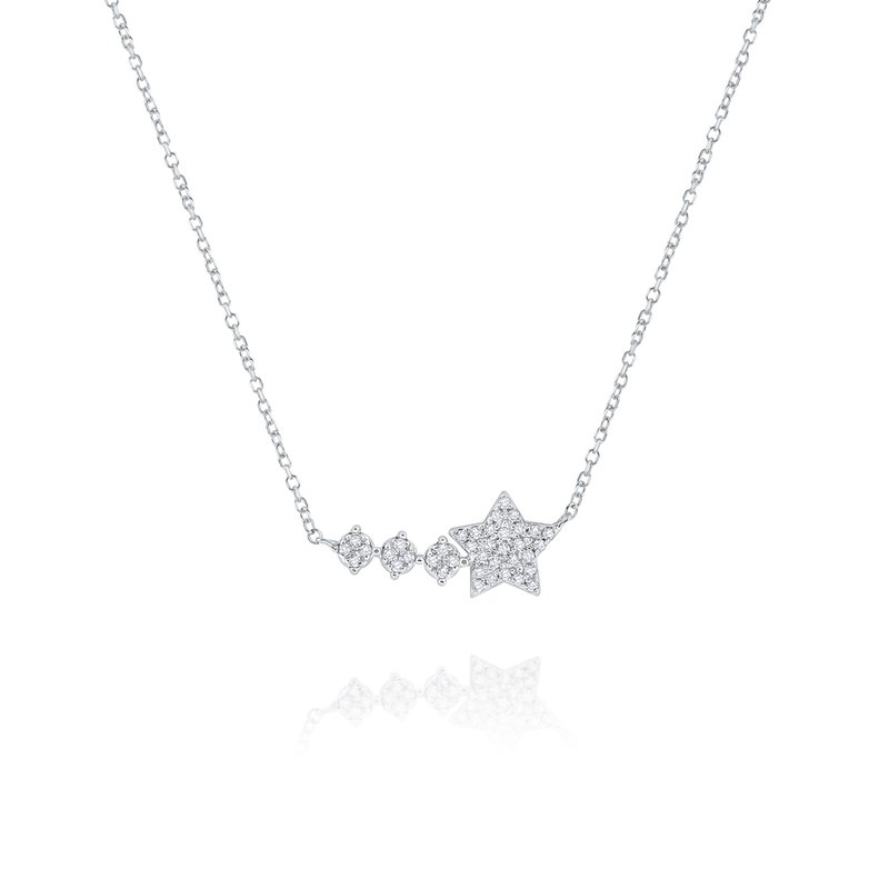 KC Designs 14K Gold and Diamond Star Shooting Star Necklace