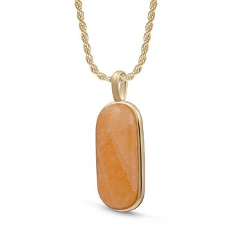 LuvMyJewelry Yellow Lace Agate Tag in Sterling Silver & 14 KT Yellow Gold Plating