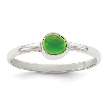 Sterling Silver Green Sea Glass Ring