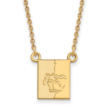 Gold Pittsburg State University NCAA Necklace
