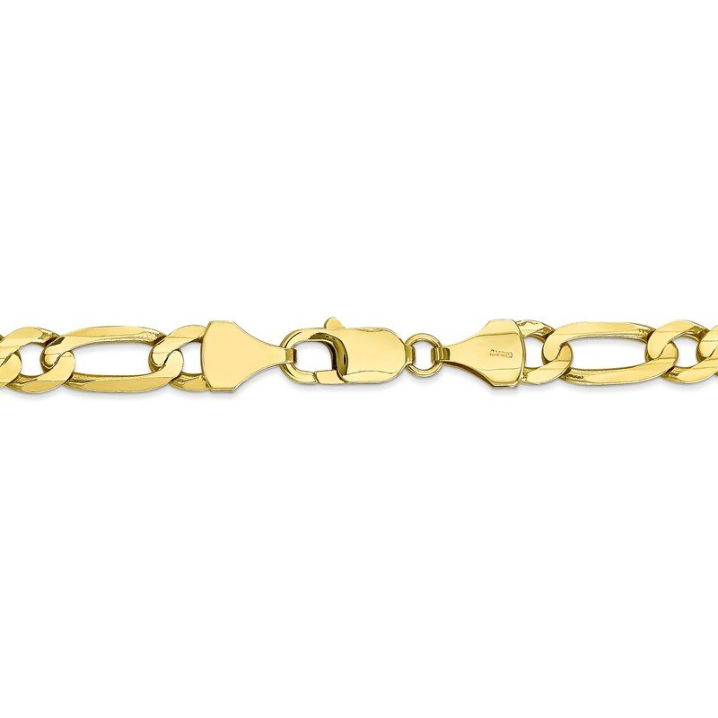 Quality Gold 10k 7.5mm Light Concave Figaro Chain