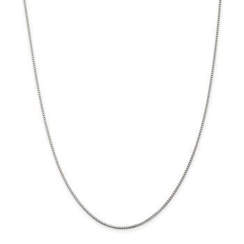 Sterling Silver Rhodium-plated 1.25mm Box Chain