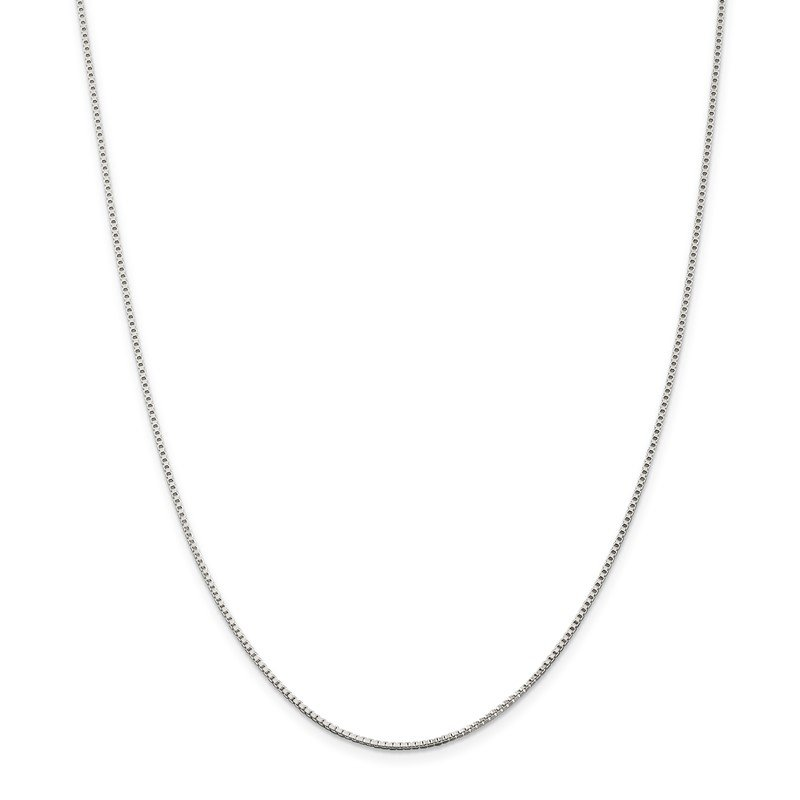 Quality Gold Sterling Silver Rhodium-plated 1.25mm Box Chain