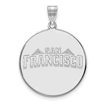 Sterling Silver University of San Francisco NCAA Pendant