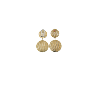 18KT GOLD LARGE ROUND DROP EARRINGS