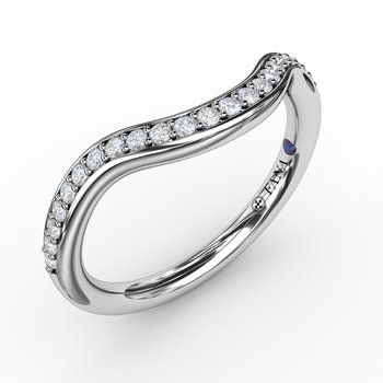 1/5ct  Modern Bead and Channel Set Contour Diamond Band
