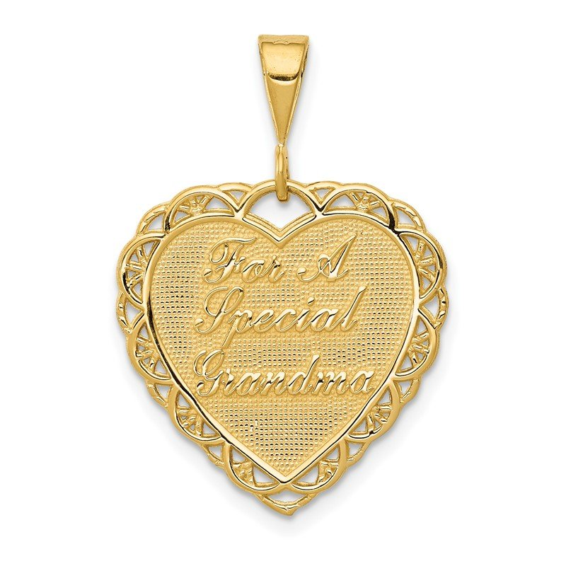 Quality Gold 14k Reversible FOR A SPECIAL GRANDMA Pendant