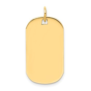 14k Plain .013 Gauge Engraveable Dog Tag Disc Charm