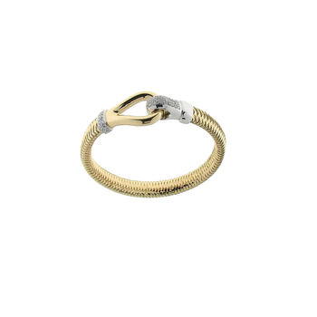 18Kt Gold Bracelet With Diamond Buckle