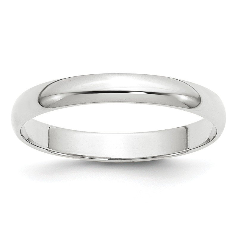 J.F. Kruse Signature Collection 10KW 3mm LTW Half Round Band Size 10