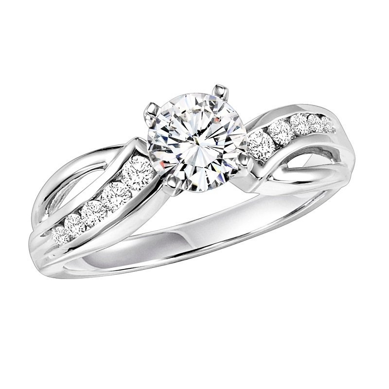 Bridal Bells 14K Diamond Engagement Ring 1/4 ctw with 3/4 ct Center