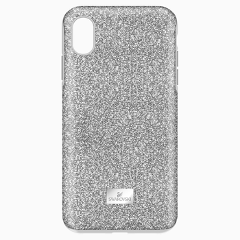 High Smartphone Case with Bumper, iPhone® XS Max, Silver tone
