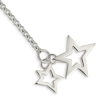 Sterling Silver Fancy Stars Bracelet