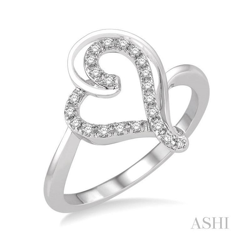 Crocker's Collection heart shape diamond ring