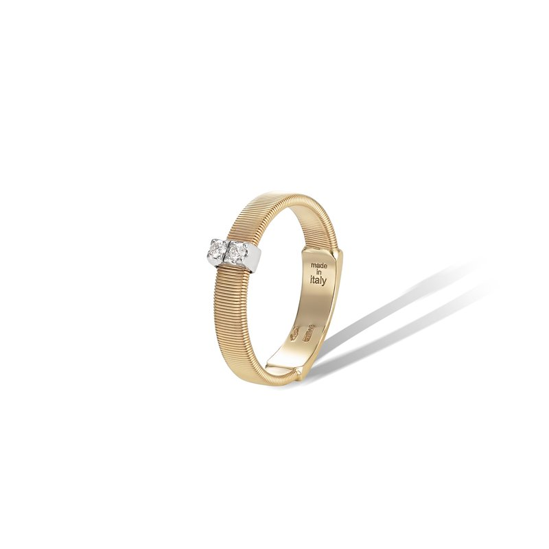 Marco Bicego Masai Collection 18K Yellow Gold and Diamond Single Row Band