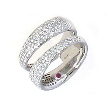 18KT GOLD 2 ROW RING WITH DIAMONDS