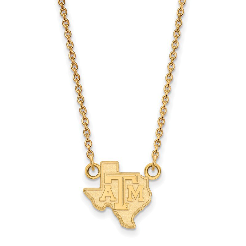 NCAA Gold-Plated Sterling Silver Texas A&M University NCAA Necklace