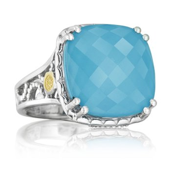 Bold Crescent Ceiling Gem Ring featuring Neo-Turquoise