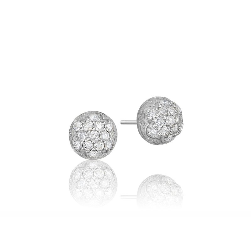 Tacori Fashion Petite Dew Drop Stud featuring Pavé Diamonds