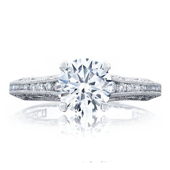 Reverse Crescent Engagement Ring